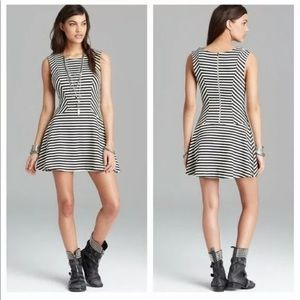 Free People cha-cha striped skater fit flare dress